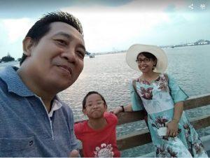 Wajah-wajah bahagia bisa liburan
